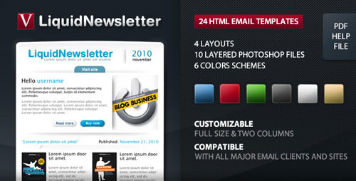 50 best html email newsletter templates web graphic design bashooka. Black Bedroom Furniture Sets. Home Design Ideas