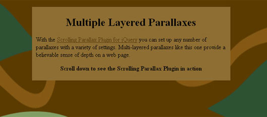 jQuery Parallax Scrolling Plugins