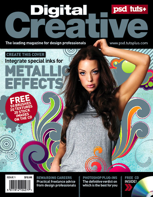 how to make magazine cover page design in photoshop