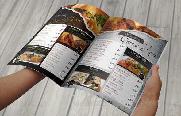 Multipurpose Restaurant Menu
