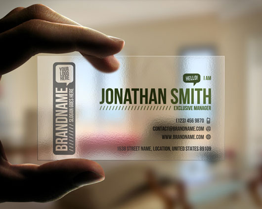Personal business card 65 examples web graphic design bashooka transparent business card colourmoves