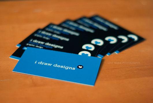 I Draw Designs Business Card