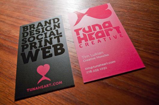 Tunaheart Business card