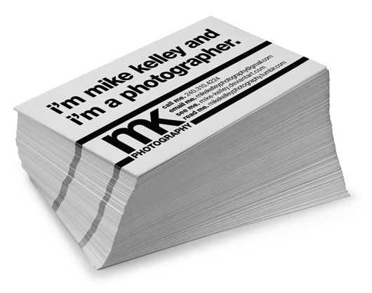 Mike Kelley Photography Business Cards