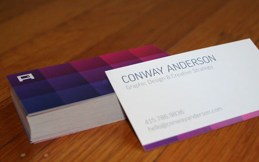 Personal business card 65 examples web graphic design bashooka conway anderson personal business card colourmoves Images