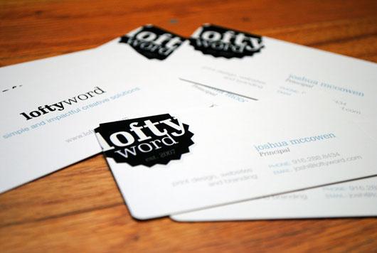 Lofty Word | Business Card