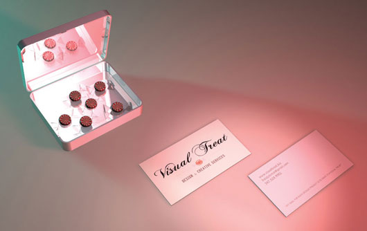 visual treat business card