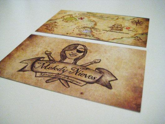 Pirate Treasure Map Cards