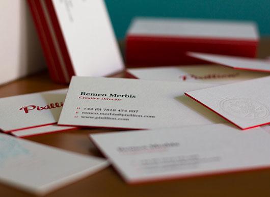Pixillion Business Cards - Letterpress