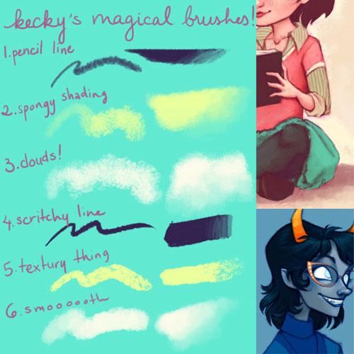 keckys magical brushes