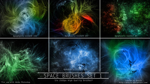 Galactic Space Brushes Set 1
