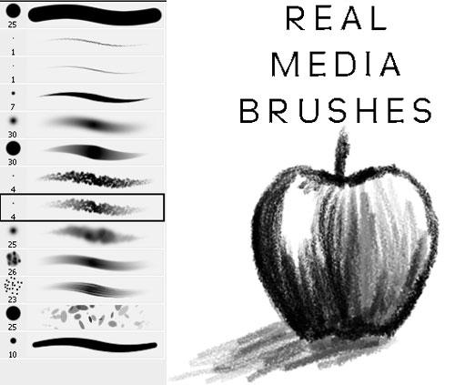 Real Media Mini Brush Set