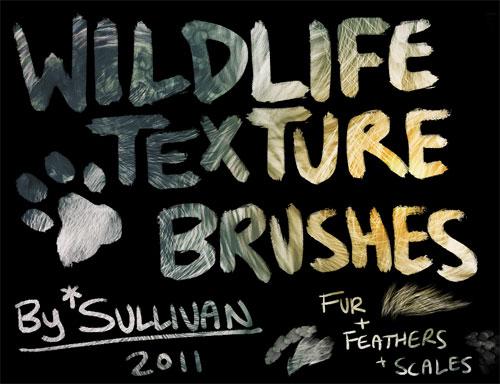 Wildlife Texture Brushes