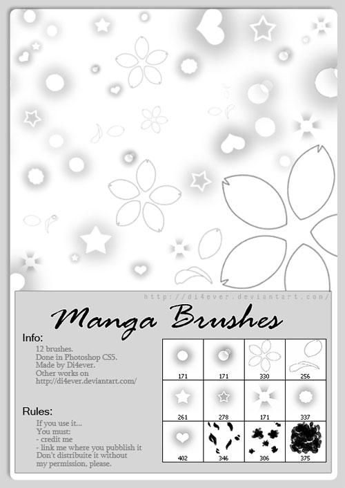 Manga Brushes