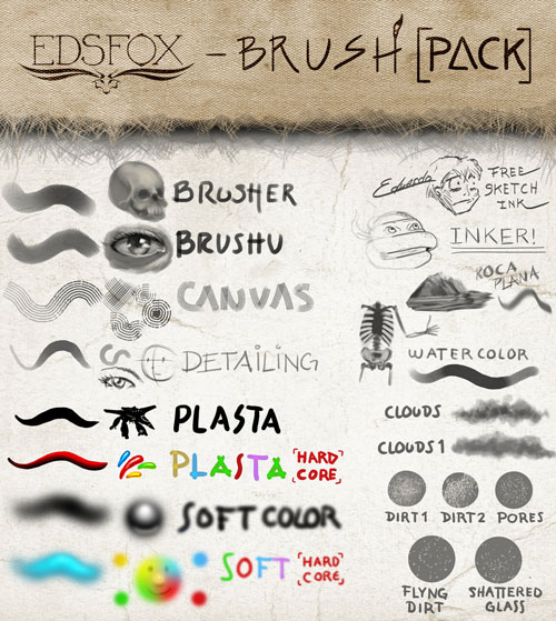 EDS BRUSH PACK TOOL PRESETS