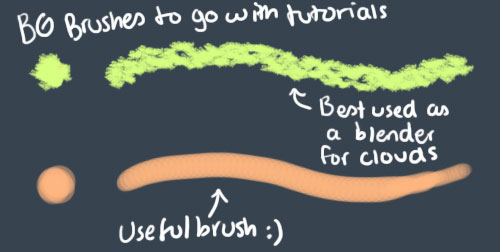 Photoshop - Useful BG brushes