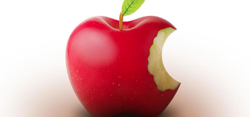 real apple logo design