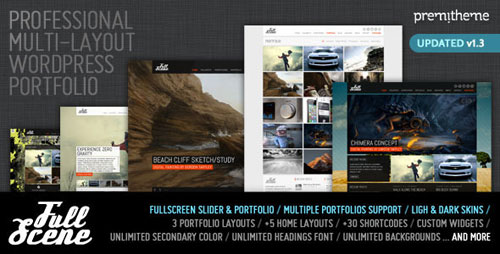 FullScene - Portfolio / Photography WP Theme