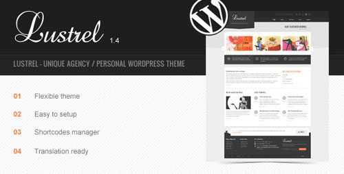 Lustrel - Unique Agency / Personal WordPress Theme