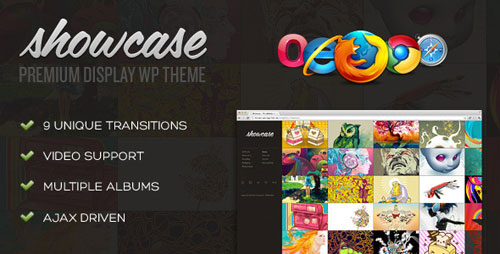 Showcase - Premium Display/Gallery WordPress Theme