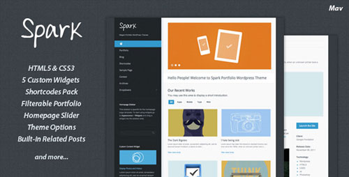Spark Portfolio WordPress Theme
