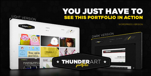 Thunder Art Portfolio WordPress theme