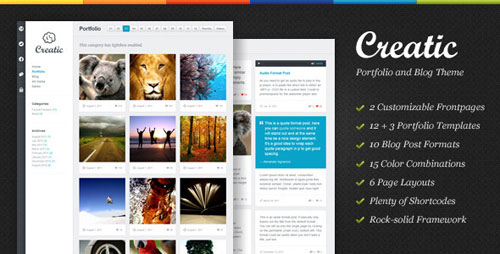 Creatic - Portfolio WordPress Theme