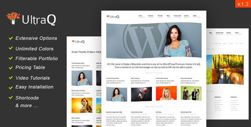 UltraQ : Portfolio & Corporate WordPress Theme
