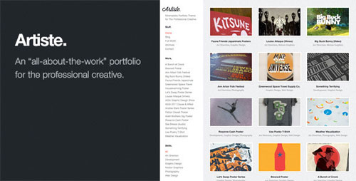 Artiste: Professional Portfolio WordPress Theme