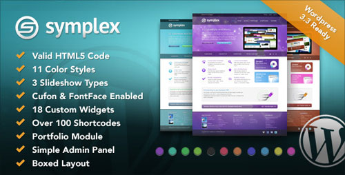 Symplex Premium & Portfolio Theme for Creative