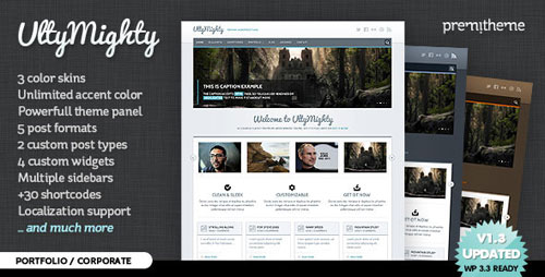 UltyMighty - Portfolio / Corporate WordPress Theme