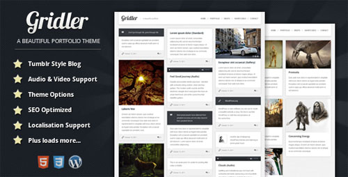 Gridler - WordPress Portfolio Theme