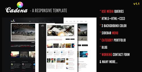 Cadena - A Responsive Creative Template