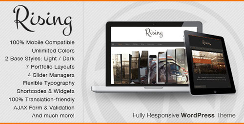 Rising - Fully Responsive WordPress Theme