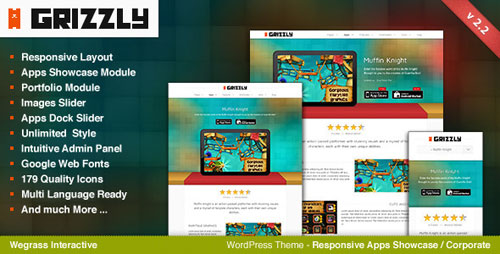 Grizzly - Responsive App Showcase / Corporate