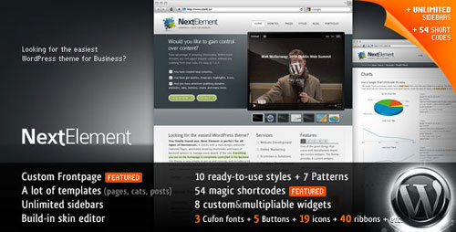 NextElement 10-in-1 Business WP Theme