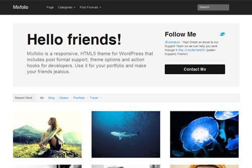 Mixfolio – Responsive WordPress Theme