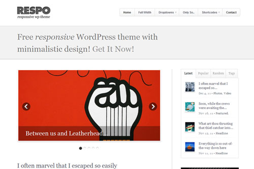 Respo – Responsive WordPress Theme
