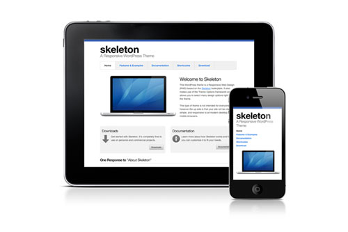 Skeleton – Responsive WordPress Theme