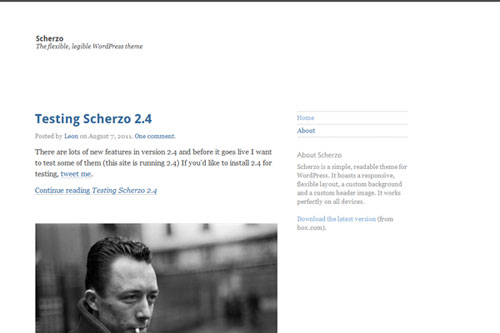 Scherzo – Responsive WordPress Theme