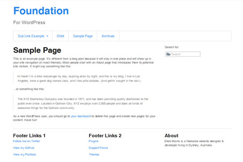 Foundation – Responsive WordPress Theme