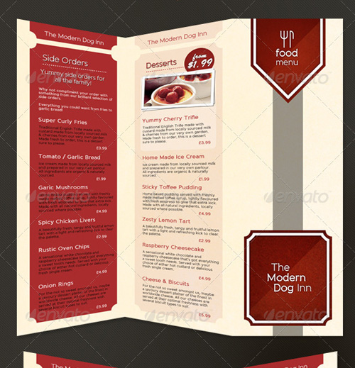 menu brochure template free - 25 high quality restaurant menu design templates web