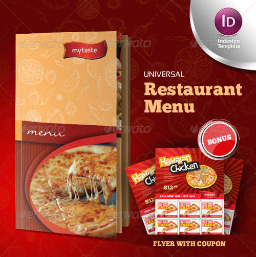 High Quality Restaurant Menu Design Templates  Web  Graphic