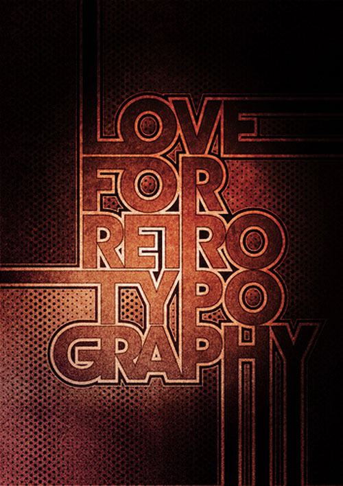 Typowall ? Love For Retro Typography