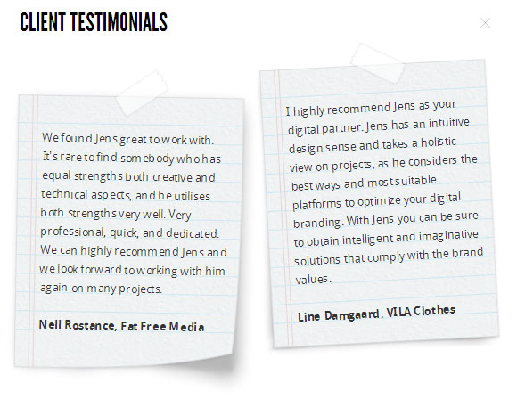 15 awesome client testimonial designs