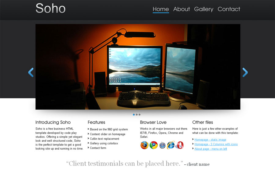 22 High Quality Free Website Templates