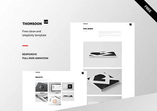 free portfolio template thomsoon
