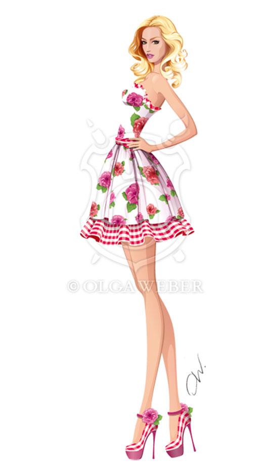 Fashion illustration: summer dress