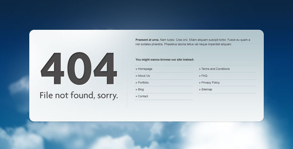 24 awesome 404 error page html templates web graphic design