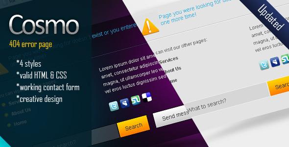 24 awesome 404 error page html templates  u2013 bashooka